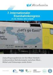 7. Internationaler Eisenbahnkongress - VDV-Akademie