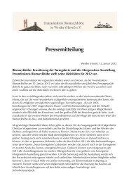 Pressemitteilung - Freundeskreis Bismarckhöhe