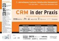7. Jahrestagung Customer Relationship Management - World Direct
