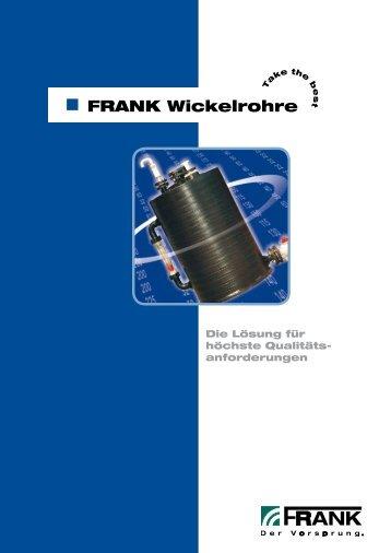 Prospekt Wickelrohre - Frank GmbH