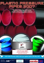 Plastic Pressure Pipes 2007 - Frank GmbH