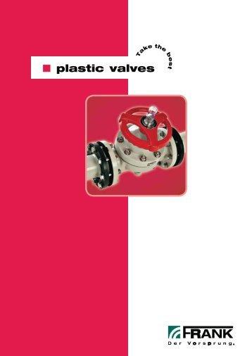 Valves overview (PDF) - Frank GmbH