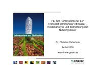 PE-100-Rohrsysteme für den Transport kommunaler ... - Frank GmbH