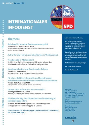 INTERNATIONALER INFODIENST - Dr. Rolf Mützenich MdB