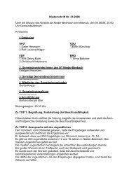Niederschrift 04.06.2008