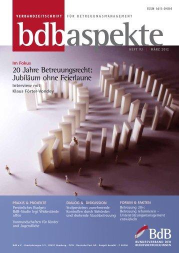 21. April 2012 in Magdeburg 20 Jahre Betreuung - Bundesverband ...