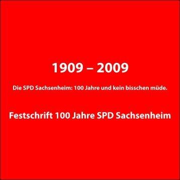 Festschrift 100 Jahre SPD Sachsenheim - Hilfe und Info