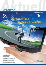 Aktuell proALPHA Ausgabe 1/2012