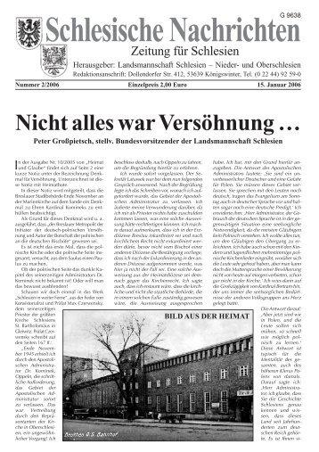 Schlesische Nachrichten - Oberschlesien eine Region in Europa ...