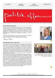 Newsletter Dezember 2010 - Hanka Kliese