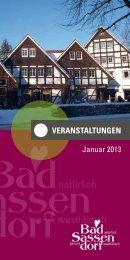 Januar 2013 - Tagungs- und Kongresszentrum Bad Sassendorf
