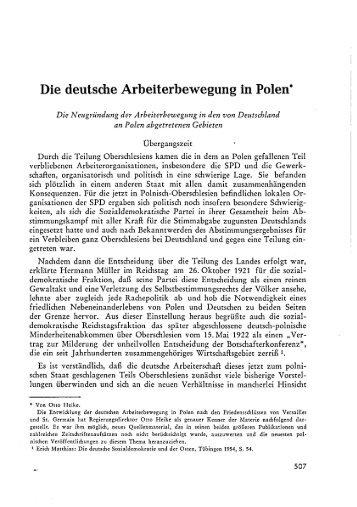 Otto Heike: Die deutsche Arbeiterbewegung in Polen