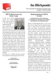 Im Blickpunkt 2. Ausgabe - SPD Northeim