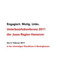 Das Antragspaket zur Ubk 2011 - Jusos Region Hannover