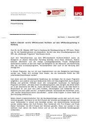 Bericht vom SPD-Bundesparteitag in Hamburg - SPD Northeim