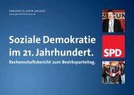 Rechenschaftsbericht des SPD Bezirks Hannover