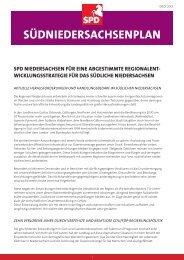 Südniedersachsenplan herunterladen - SPD Niedersachsen