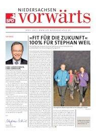 FIT FÜR DIE ZUKUNFT« 100% FÜR STEPHAN WEIL - SPD ...