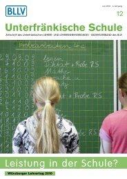 Unterfränkische Schule - BLLV