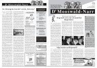 D' Mooswald-Narr - Bürgerverein Freiburg Mooswald eV