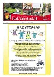 Jahrgang 30 Freitag, den 30. September 2011 ... - Waischenfeld