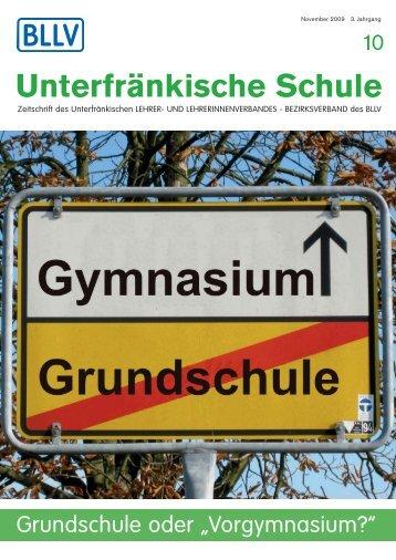 """Heft 10: Grundschule oder """"Vorgymnasium?"""" - BLLV"""