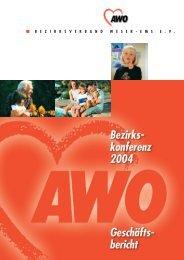 Geschäftsbericht - AWO Bezirksverband Weser-Ems