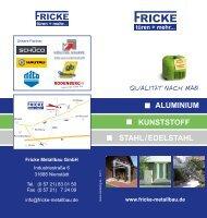 Download PDF - Fricke Metallbau