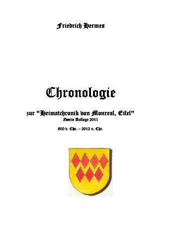 Chronologie Monreal bis 2012 - Heimatchronik Monreal