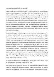 Haushaltsrede der SPD von Joachim Pies - Kenzingen