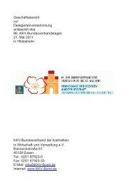 Geschäftsbericht 2011 - KKV Bundesverband