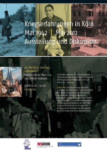 Plakat Layout quer - Friedensbildungswerk Köln