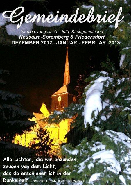 Dezember, Januar, Februar 2013 - Friedersdorf - Oberlausitz