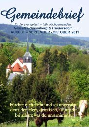August, September, Oktober - Friedersdorf - Oberlausitz