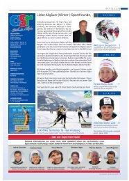 Liebe Allgäuer (Winter-) Sportfreunde, - Allgäu Sport Report