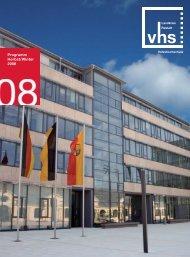 S 1-11 Intro - Inhaltsverzeichnis 2-08.qxd - VHS Landkreis Rastatt