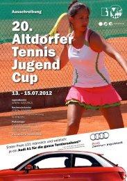 Ausschreibung - Altdorfer Tennis Jugend Cup