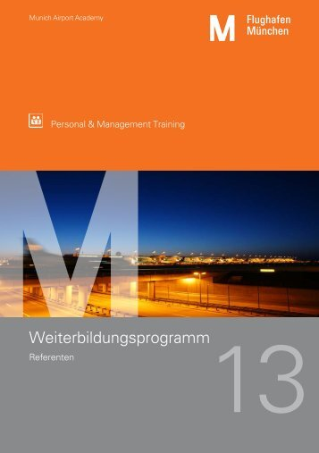 Weiterbildungsprogramm - Flughafen München