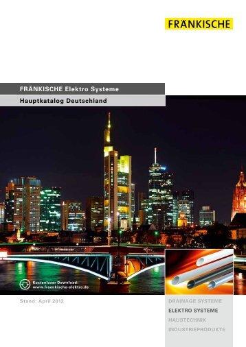 FRÄNKISCHE Elektro Systeme Hauptkatalog Deutschland