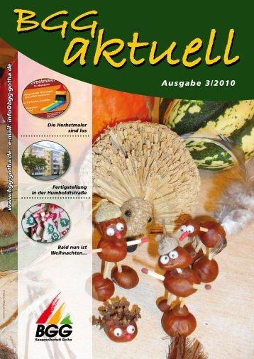BGG-aktuell, Ausgabe 3 - 2010 - Baugesellschaft Gotha