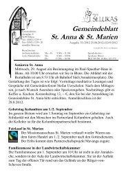 Gemeindeblatt St. Anna & St. Marien - St. Lukas