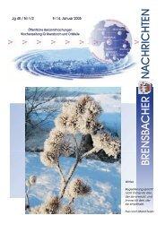 Jg 40 / Nr 1/2 Fr 14. Januar 2005 - Brensbach