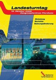 Einladung zum Landesturntag 2005 - Badischer Turner Bund