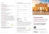 Flyer Krebskongress - Vivantes