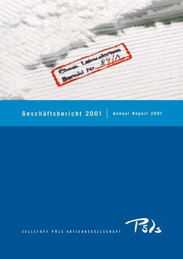 und Verlustrechnung 2001 - Zellstoff Pöls AG