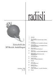 radiisli Nr. 92, Frühling 2008 - SP Weinland