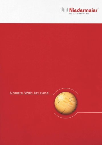 Katalog 2010.cdr - Holz in Form Niedermeier GmbH