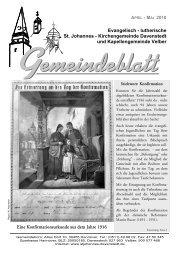 Evangelisch - lutherische St. Johannes - Kirchengemeinde - Ev.-luth ...