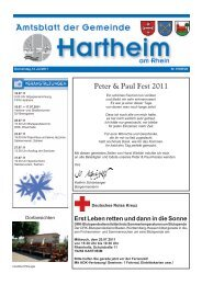 Peter & Paul Fest 2011 - Gemeinde Hartheim