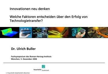 Dr. Ulrich Buller - Roman Herzog Institut